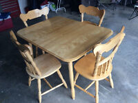 Solid wood table and 6 chairs for sale