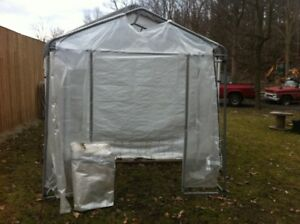 Outdoor Shelter Shed Tent 4'X8' Steel Tubing Frame