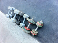 WEIGHTS ,DUMBELLS , & ANKLE/WRIST WEIGHTS HEX DUMBELLS