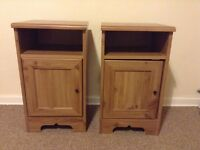 2 X Bed Side cabinets