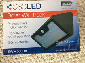 Solar Wall Pack Motion Detector