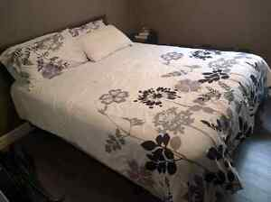 Queen bed set.  Mattress, boxspring, frame headboard included.