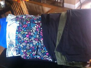 Ladies Scrub Tops and Bottoms