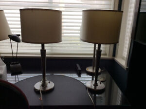 TWO LOVELY TABLE LAMPS + LAMP SHADES