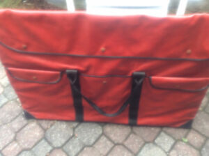 Dry Wipe Lacrosse Board with Sturdy Carrying case