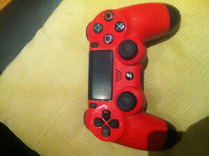 Mint condition red ps4 controller