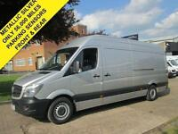 2015 15 MERCEDES SPRINTER 313CDI LWB HIGH ROOF. METALLIC SILVER. ONLY 56K. FSH.