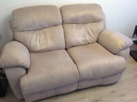2 x Two seater manual recliner sofas