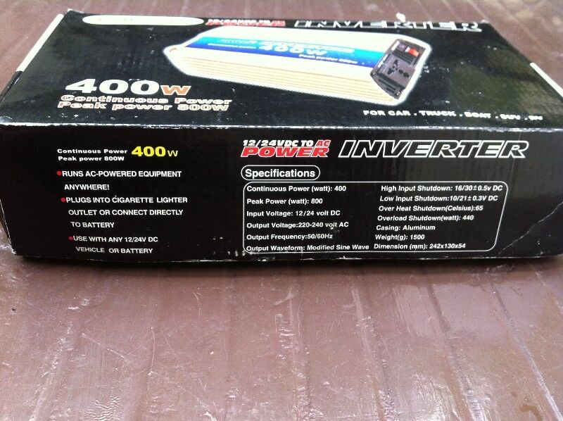 Newstar DC to AC power inverter. Converts 12V DC vehicle power to ...