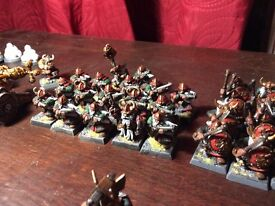 Games workshop Warhammer dwarf Army.