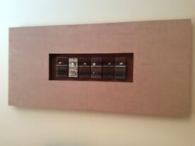 Contemporary Art - Mark Briggs - Fused glass in suede frame