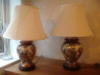 Large pair of table lamps