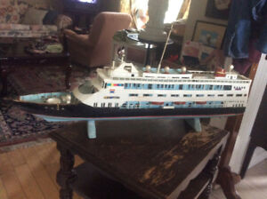 Vintage hand crafted cruise ship