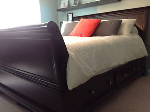 9 Piece sleigh king bedroom set