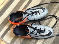 Nike grey and orange soccer cleats 8.5 mens