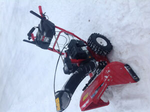 "2 years old 24"" 2 stage 277cc Troy bilt snowblower"