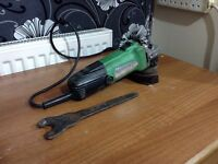 Hitachi cordless grinder with key