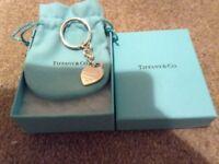 Brand new Tiffany & Co Heart Tag Key Ring