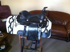 Western Saddle with Billy Cook saddle pad