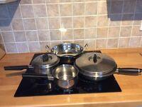 Copper bottomed pans
