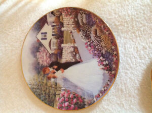 Porcelain plate mint condition with papers