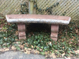 Wooden garden bench planter plus other garden decor!