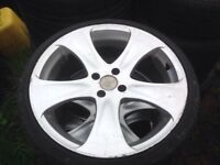"18"" KLASS ALLOY WHEELS ALLOYS TYRES WHEELS RIMS PCD 4 X 1OO FITMENT"