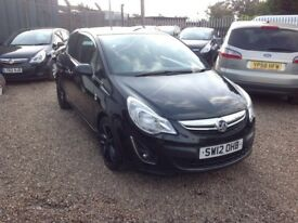 Vauxhall Corsa LIMITED EDITION (black) 2012