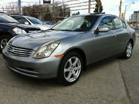 2004 INFINITI G35x - PREMIUM PKG / CLEAN CAR-PROOF / 182,000KM