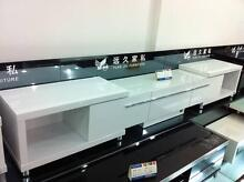 Black / White High Gloss TV entertainment unit cabinet EXTENDABLE Riverstone Blacktown Area Preview