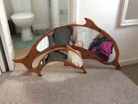 Dolphin pine mirrors