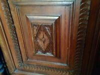 Wood carved sideboard