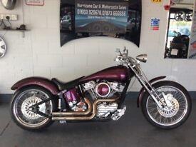 At Hurricane Part X Welcome Custom Santee Softail Low Ride Chop Revtech Not Harley Davidson Bobber