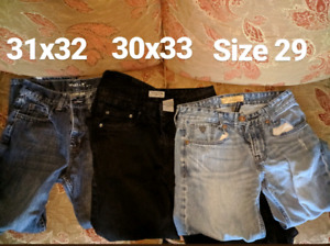 Large lot of boys/men's jeans!