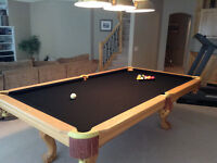 Pathmark 4x8' Pool Table & Light with custom cue wall stand