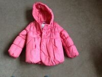 New M&S pink hooded coat