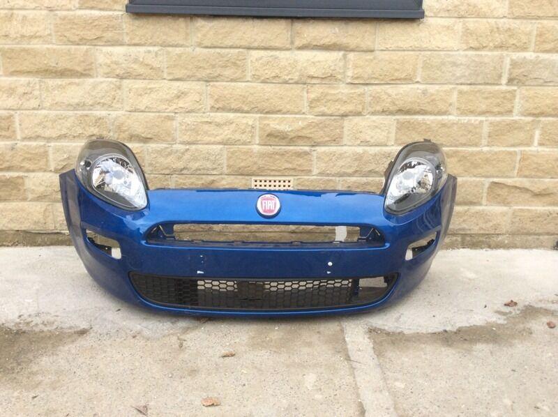 Genuine Fiat Punto EVO Front Bumper & Headlights 2009-2010-2011-2012-   in Bradford, West ...