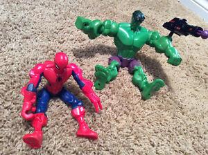 Marvel Super Hero Mashers - The Hulk and Spiderman