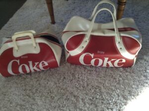 Red and White Coca Cola Carry bags