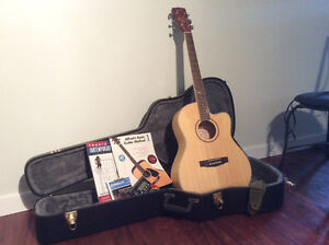 Cort acoustic guitar, with accessories