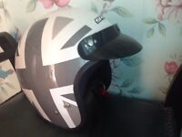 Spada open face helmet size large Union Jack design Astley scooter motorcycle
