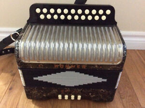Hohner Erica two row button accordion, CF