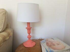 Shabby chic vintage lamp