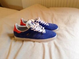 Blue adidas trainers size 10