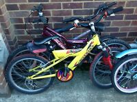 Selection of children's bicycles 12 inch 20 inch wheel