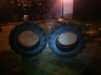 12.4 x 24 Firestone field and road tractor tires