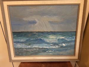 Water painting, ocean, unsigned