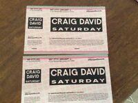 2 Craig David tickets Hippodrome Kingston Saturday 27th January £40 the pair