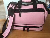 Pink & Black Bag-overnight/airplane /Travel