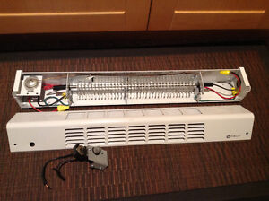 Mini Patio Door Baseboard Heater with thermostat
